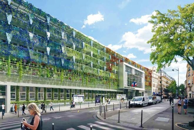 Najveća zgrada pariške gradske uprave dobiva zeleno pročelje