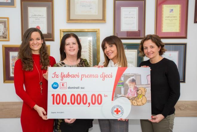 Kaufland i P&G ostvarili cilj, doniraju HCK-u 100.000 kuna za djecu u potrebi