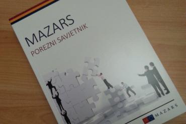 Nova knjiga: Mazars –  Porezni savjetnik