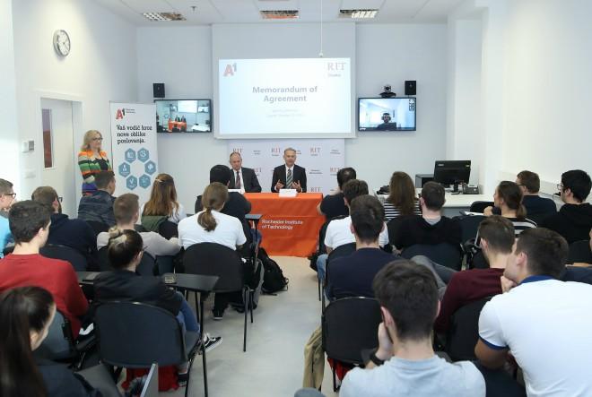 Studenti RIT Croatia izrađuju web i mobilno rješenje za praćenje kvalitete i zagađenja zraka u suradnji s A1 Hrvatskom