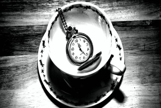 tea cup, time