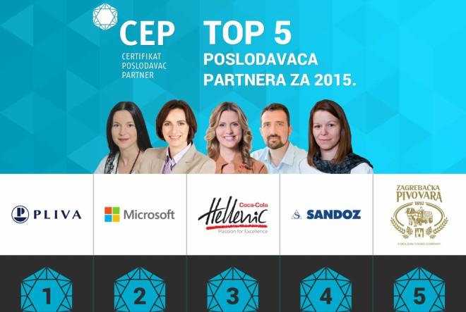 Top 5 Poslodavaca Partnera za 2015. godinu