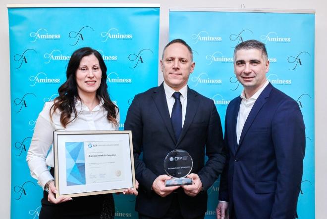 Aminess jedina turistička kompanija nagrađena certifikatom Poslodavac Partner