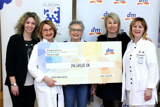 dm donirao gotovo četvrt milijuna kuna udruzi Europa Donna