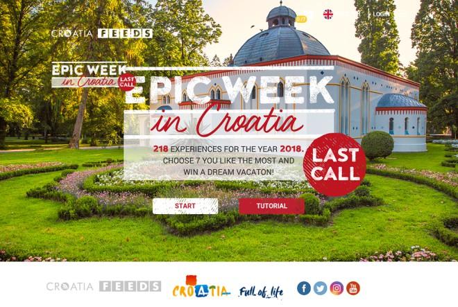 """Posljednji nastavak kampanje """"Epic Week in Croatia – Last call"""" donosi i dan odmora u gradu """"Vatrenih"""""""
