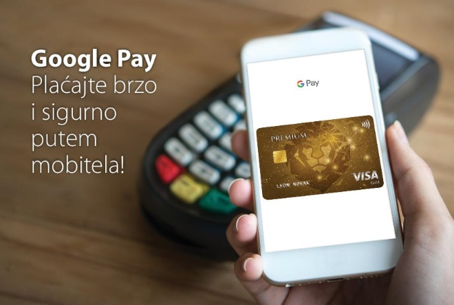 Google Pay od sada dostupan korisnicima Premium Visa kartica