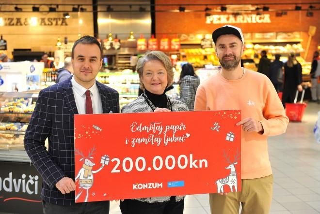 Konzum donirao 200.000 kuna SOS Dječjem selu Hrvatska