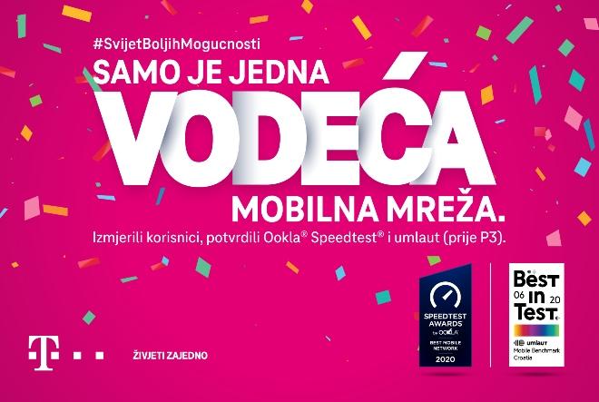 Hrvatskom Telekomu ponovno potvrđen status najbolje mobilne mreže u Hrvatskoj