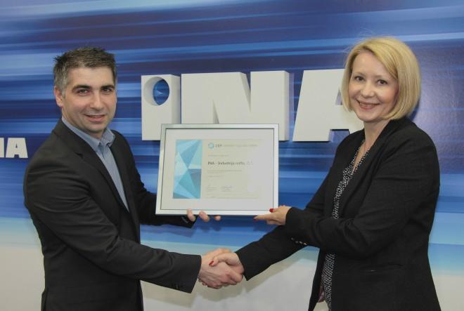 INA šesti put dobitnik Certifikata Poslodavac Partner