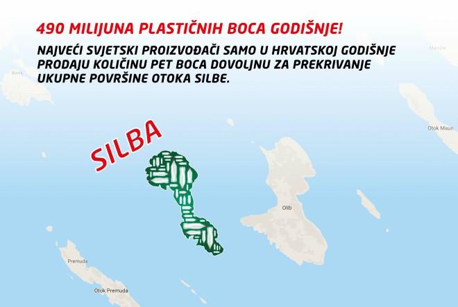 Utapamo se u plastici: Hrvati godišnje PET bocama prekriju površinu otoka Silbe