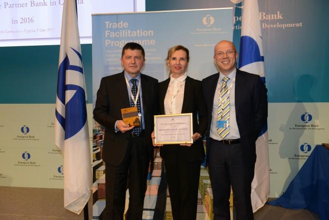 Privredna banka Zagreb d.d. osvojila nagradu za najaktivniju banku u financiranju izvoza