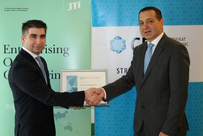 JTI Zagreb prva kompanija s iznimnim rezultatom prema novim, višim standardima certifikata Poslodavac Partner