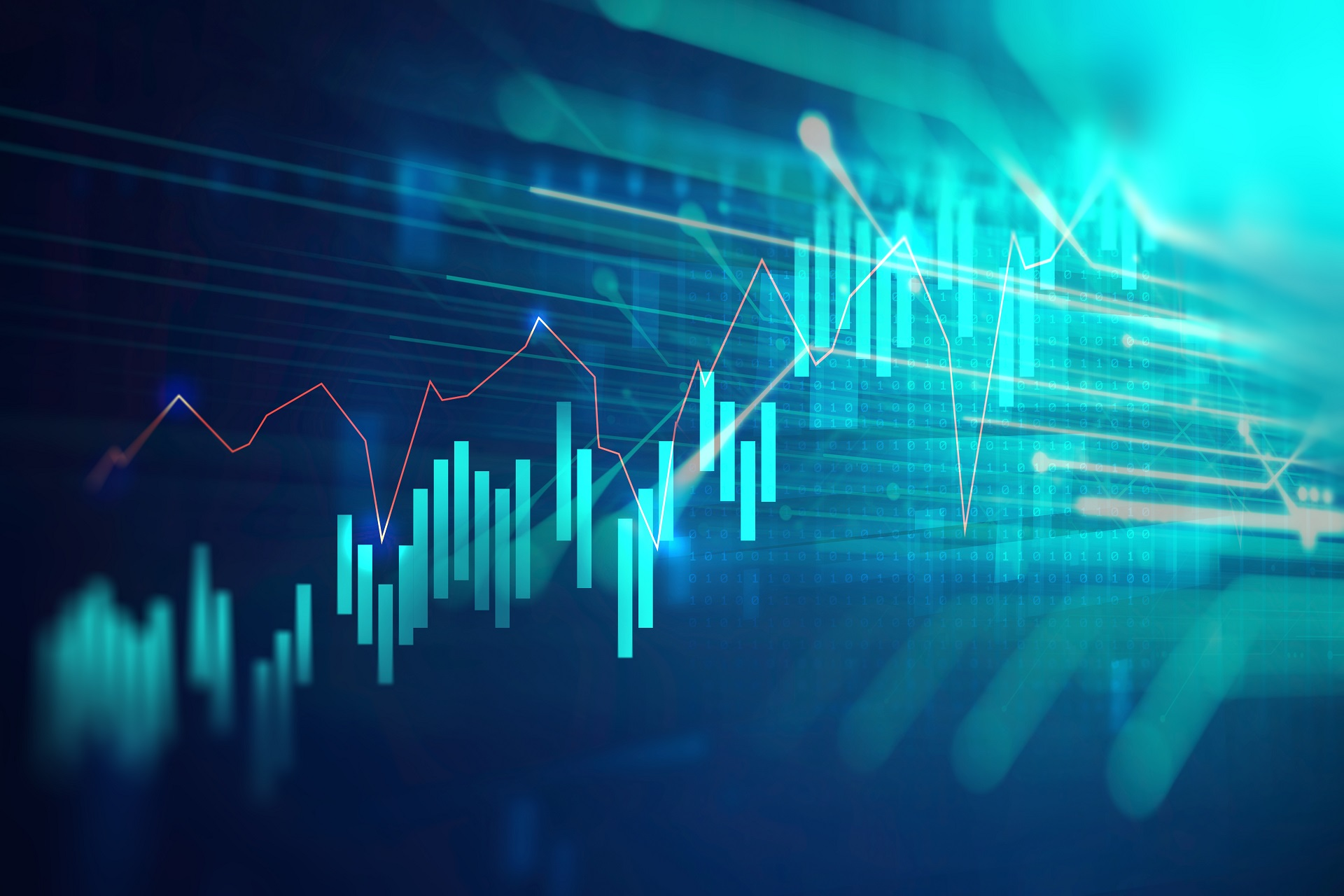 Financial,Stock,Market,Graph,On,Technology,Abstract,Background