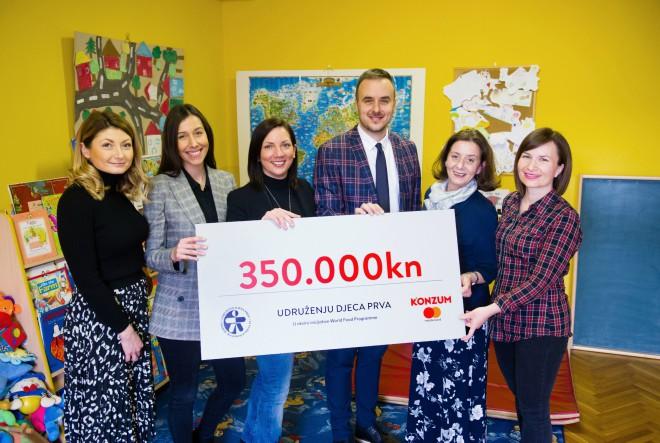 Konzum i Mastercard donirali 350.000 kuna obiteljima slabijeg imovinskog stanja