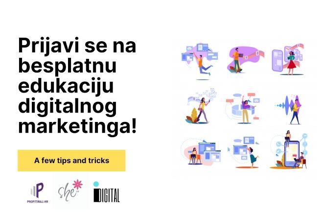 Prijavi se na besplatnu edukaciju digitalnog marketinga!