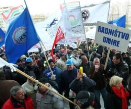 Radnici Dine i Diokija u četvrtak prosvjeduju na Markovom trgu