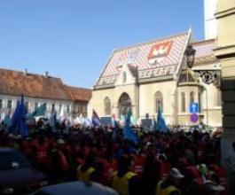 Radnici Diokija: Hrvatska Vlado, narod vam je gladan! [VIDEO]