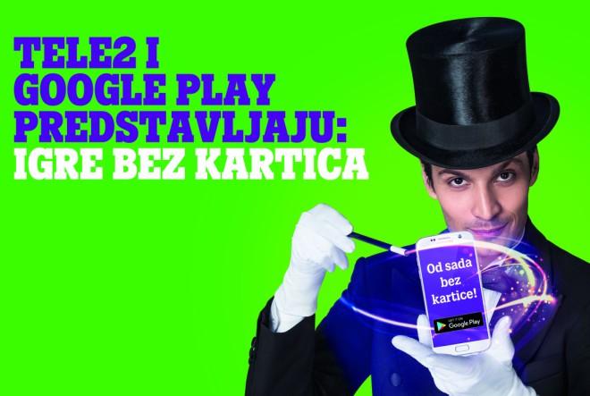 Tele2 jedini u Hrvatskoj omogućuje plaćanje u Google Play Trgovini preko korisničkog računa