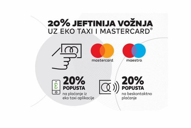 Vozite se Eko taxijem, platite Mastercard® karticama i uštedite 20% od svake vožnje