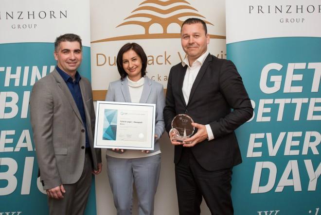 Valoviti papir Dunapack se pridružio dobitnicima Certifikata
