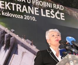 Probni rad HE Lešće – prva hidroelektrana od osamostaljenja Hrvatske