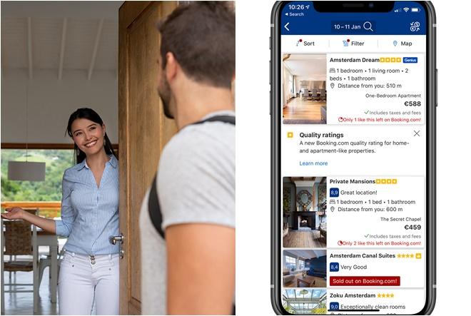 Booking.com uvodi ocjene kvalitete za apartmane, vikendice i vile
