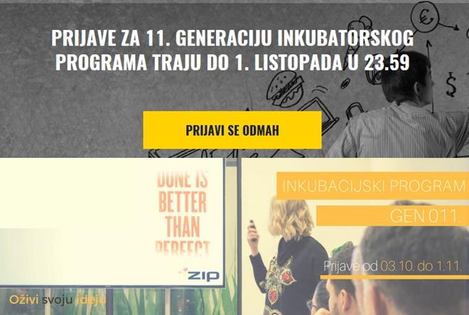 Poziv za 11. generaciju inkubatorskog programa Zagrebačkog inkubatora poduzetništva