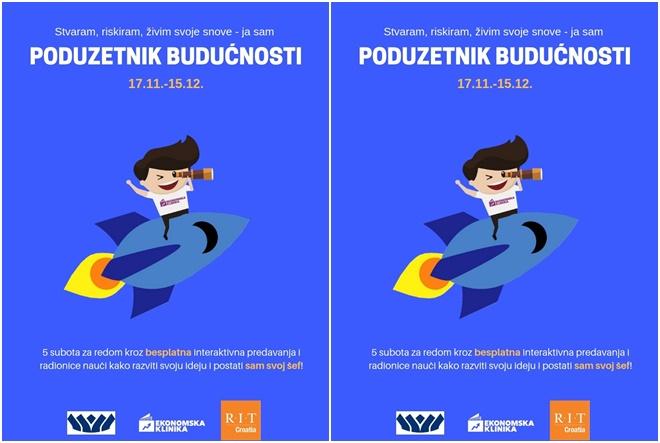 """Ekonomska klinika i RIT Croatia ove godine pozivaju sve zainteresirane srednjoškolce na sudjelovanje u projektu """"Poduzetnik budućnosti"""""""