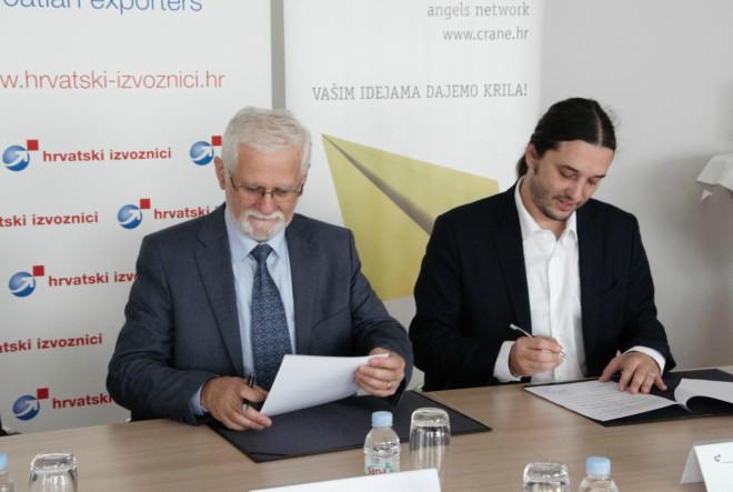 Hrvatska mreža poslovnih anđela (CRANE) i Hrvatski izvoznici (HIZ) potpisali Sporazum o suradnji