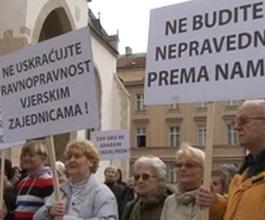 Hrvatska kršćanska koalicija prosvjedovala na Markovu trgu [VIDEO]