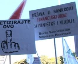 Počeo sindikalni prosvjed protiv izmjena ZOR-a [VIDEO]