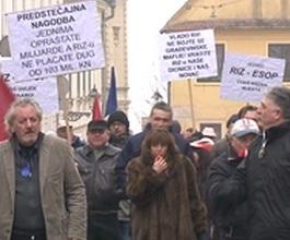 Prosvjed radnika RIZ-Odašiljača protiv ekonomskog genocida [VIDEO]