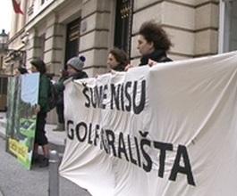 Prosvjed Zelene Akcije na Markovu trgu [VIDEO]
