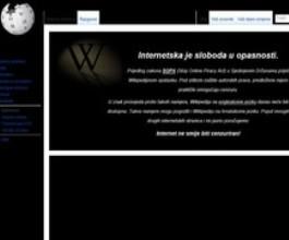 Wikipedia zatvorila stranice s porukom 'Internet ne smije biti cenzuriran!'